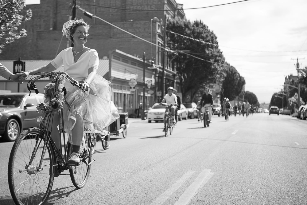 Port Townsend bike wedding
