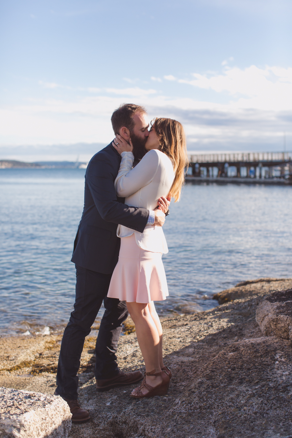 olympic peninsula elopement courthouse wedding in Port Townsend washington
