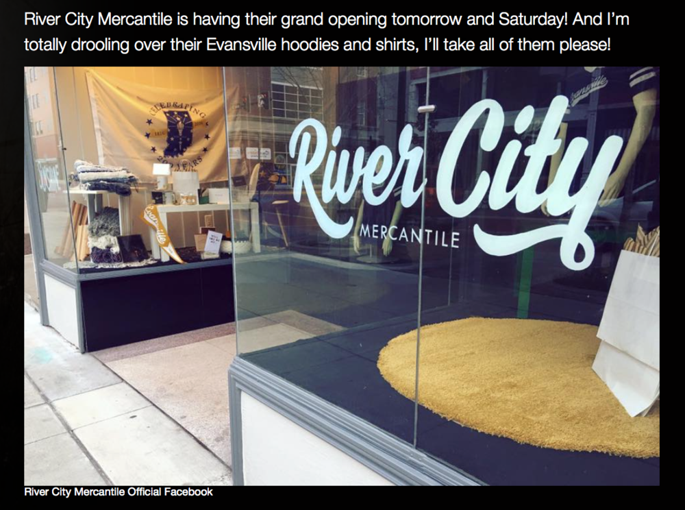 """River City Mercantile Evansville Gift Shop Opening in Downtown"" • WKDQ 03.03.16"