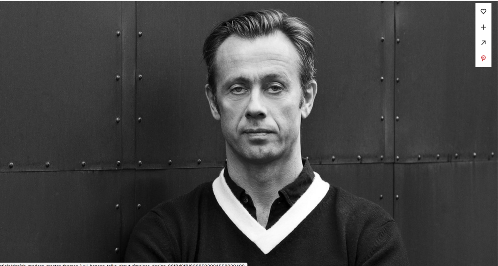 Dwell: Danish-Modern Master Thomas Juul-Hansen Talks About Timeless Design