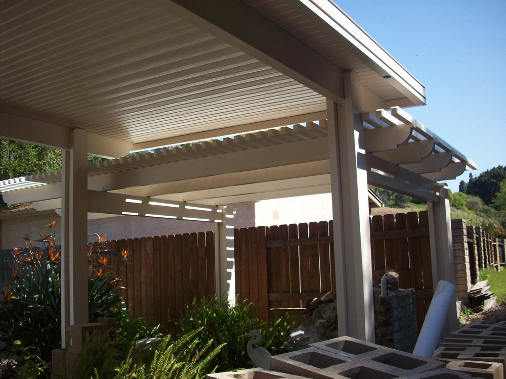 Combination Style Patio Cover