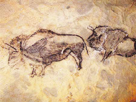 Prehistoric Basque cave painting