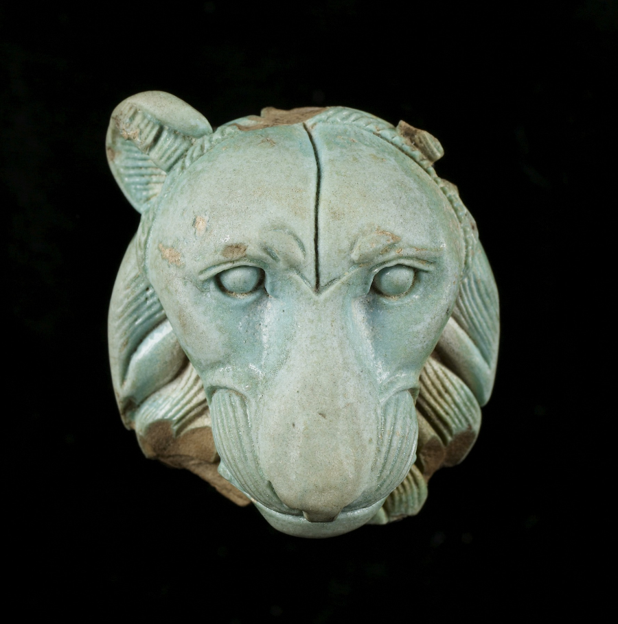 Appliqué: Head of a Lion, Ancient Egypt