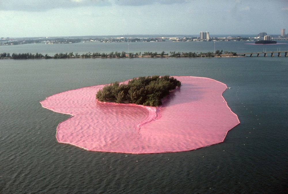 Christo and Jeanne-Claude-  Surrounded Islands
