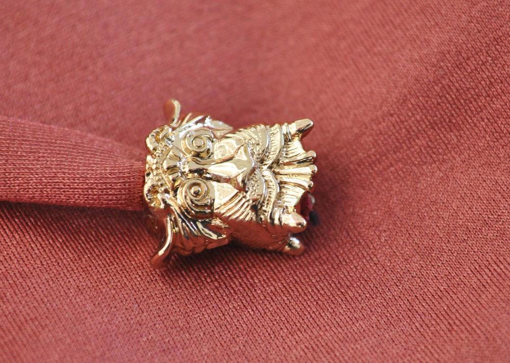 One Of a Kind - Custom made unique design light gold colour beads