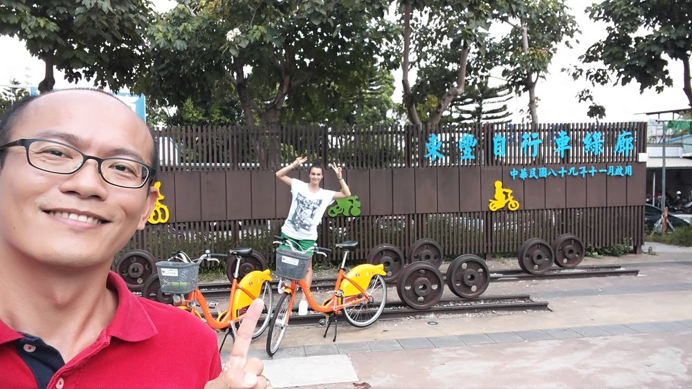 Fengyuan is actually the starting point for both bike paths and many bike rental shops