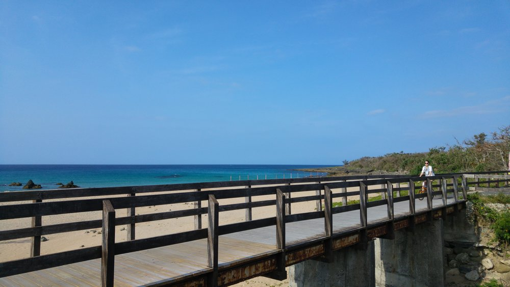 biking along the blue coastlines and unbelievable beauty of the nature