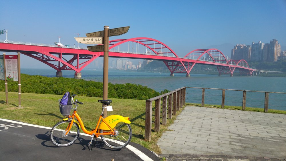 GuanDu Bridge is the landmark that you understand that you are arriving at the Tamshui Area