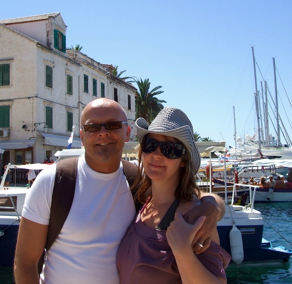 Our first photo in Stari Grad taken in 2006 (wow fresh faced, amazing what 10 years can do to you).