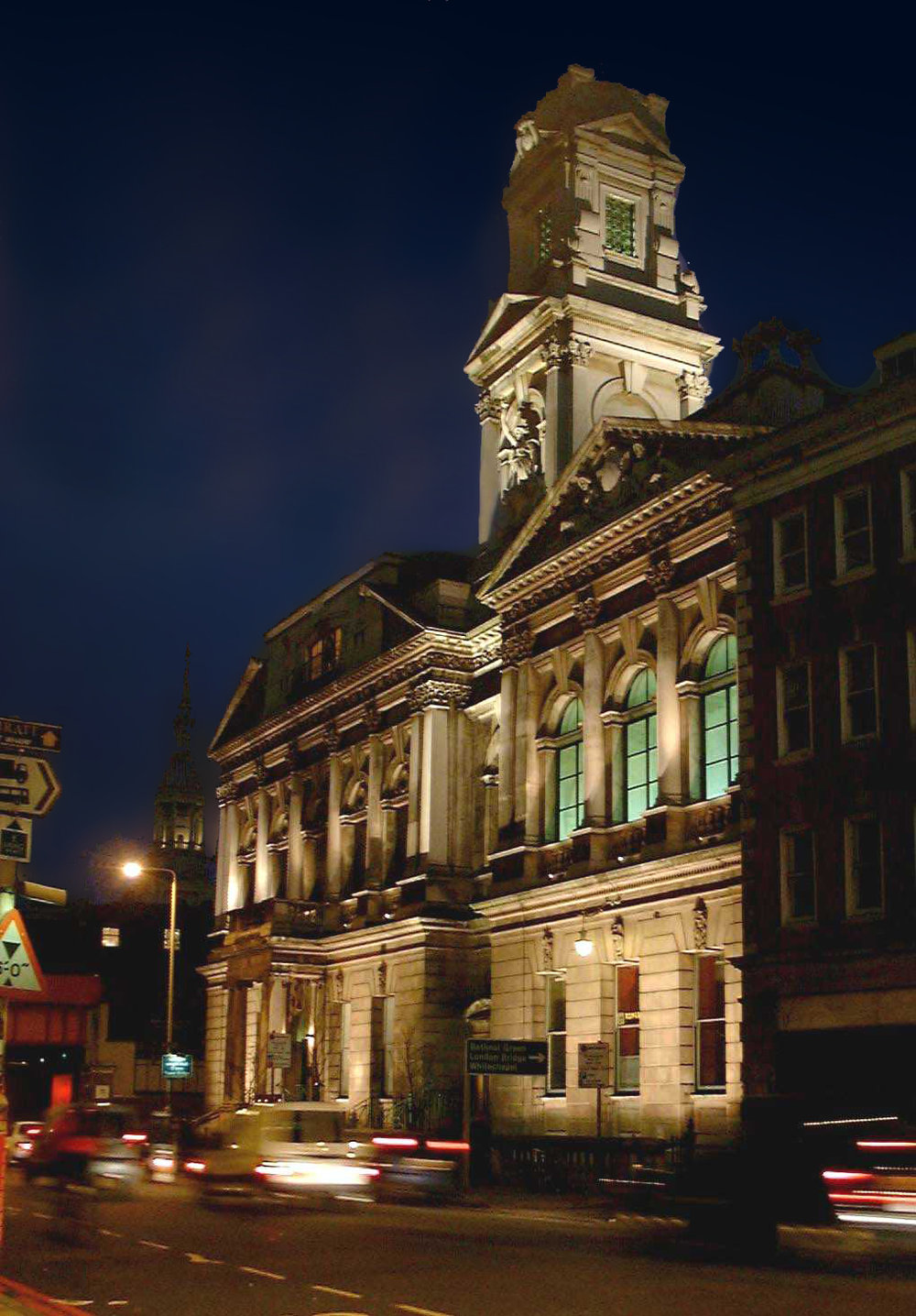 The Town Hall was formerly as dark as the building on the right