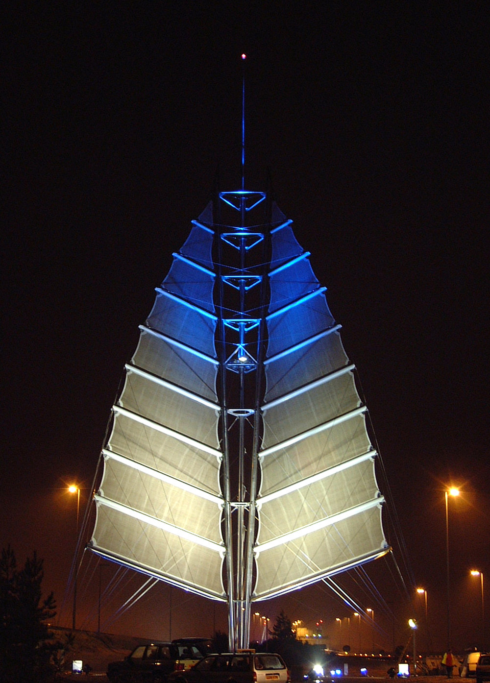 Sails of the South sculpture