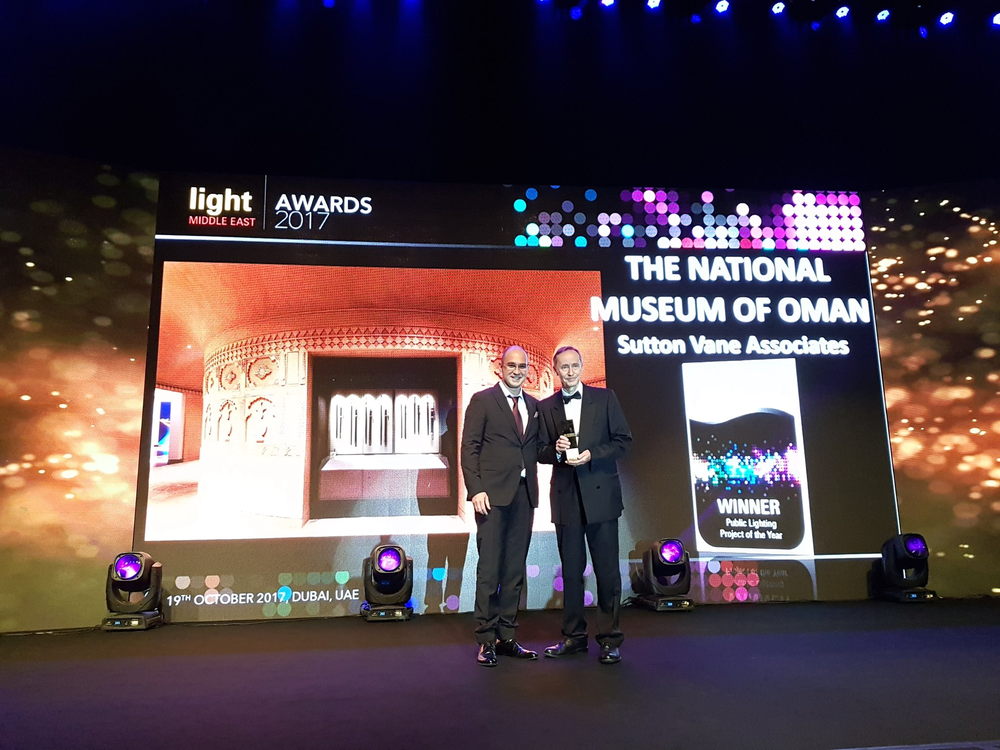 Mark receiving the Public Lighting Project of the Year award last nights at the Light Middle East Awards 2017 in Dubai.