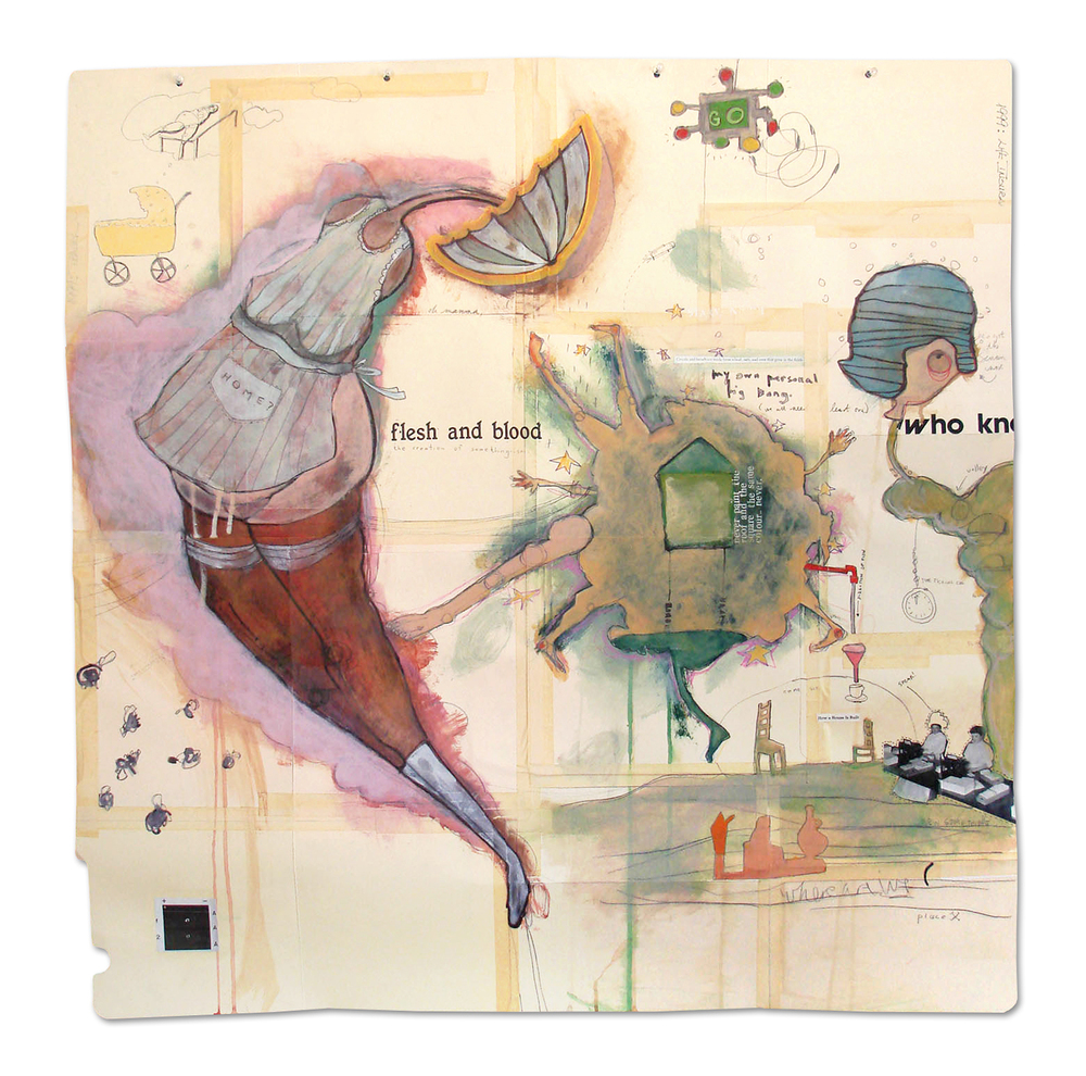 Flesh and Blood, mixed media on file folders, 96x99cm, (c) Jessica Serran, 2005.jpg
