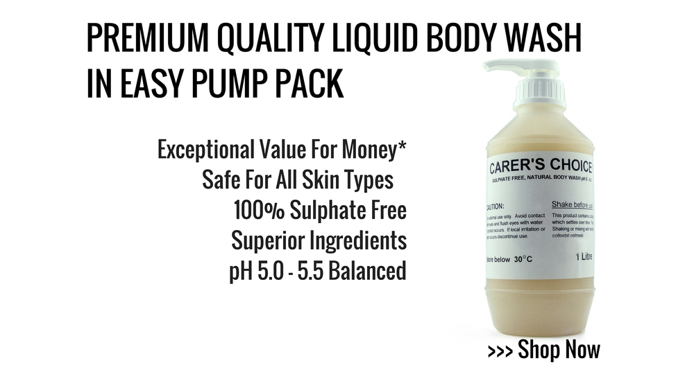 Sulphate free Liquid body wash packs pH 5.0 - 5.5