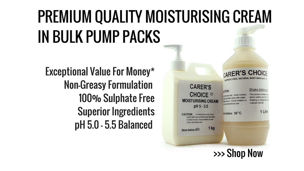 ph 5.0 - 5.5 premium sulphate free body Moisturiser cream in pump pack dispenser
