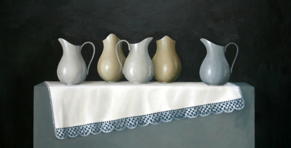 Five Jugs and Lace