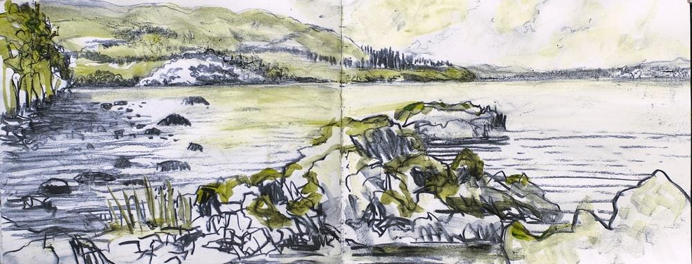 Conor Galalgher Artist. Innisfree sketch