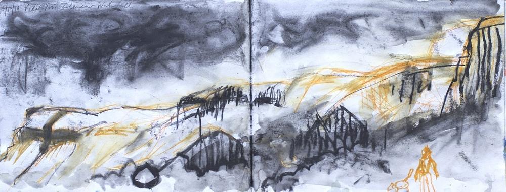 Conor Galalgher Artist. Glencar sketch