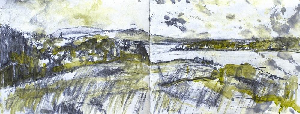 Conor Galalgher Artist.  Lough Gill sketch