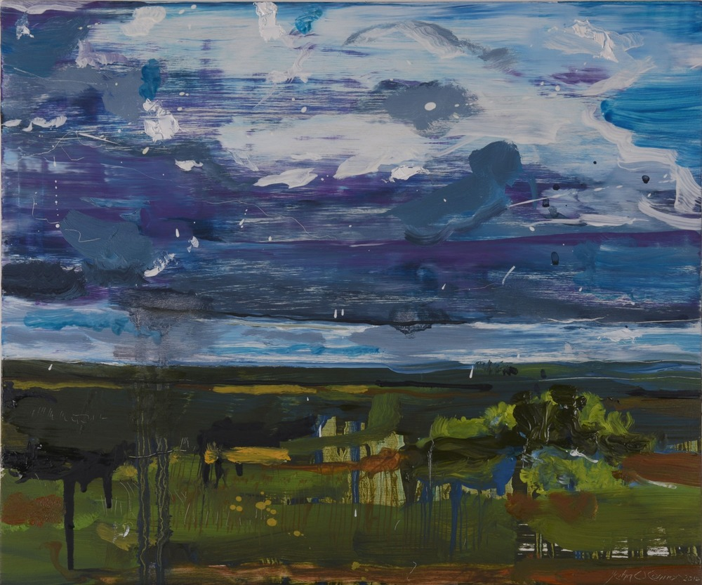 Dark Summer Sky over the Boggadh Bog. John O'Connor Artist