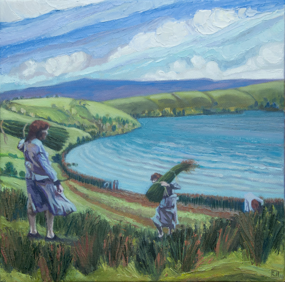 Jobson, Rebecca - The Gatherer   oill on canvas on board  € 850.JPG