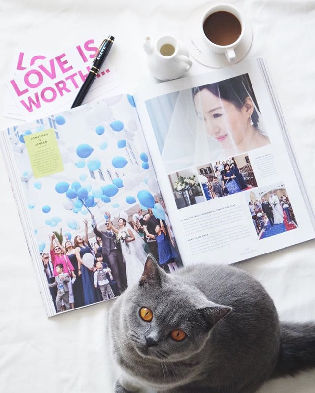 We are honoured to have our photos of Jonathan & Jeneen printed in Her World Brides for the Mar 2016 issue! Thank you @xoxojeneen and @jonleongpics for the beautiful wedding, and thank you @herworldbrides for the feature. Our kitty @carlafulworld also loves it!  Love is Worth everything! #lovorthweddings