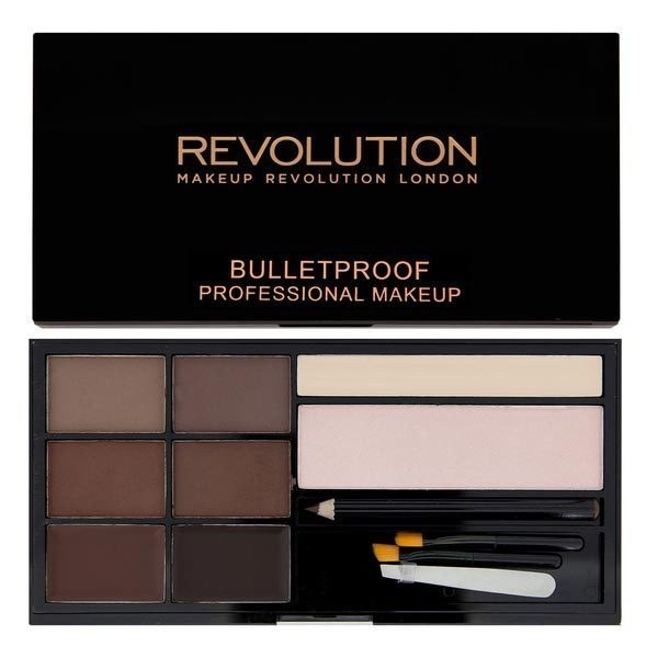 Makeup Revolution Ultra Brow Palette.  Mida hing veel ühelt korralikult kulmukomplektilt ihaldada võiks. See sisaldab 4 erinevat varjundit. mida saab loomulikult parima kulmuvärvi saavutamiseks omavahel segada. Lisaks on komplektiis ka kulmupintsel, highlihter-puuder ja highlighter kreem.