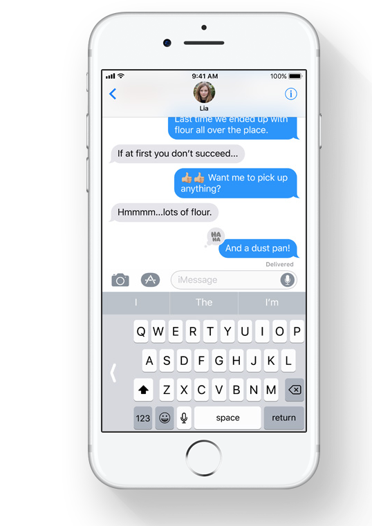 The one-thumb texting keyboard in IOS 11.   Source.