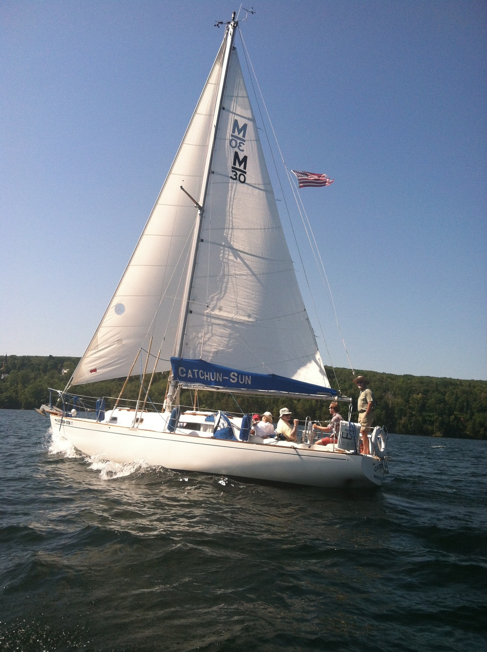 Sailboat in Chequamegon Bay