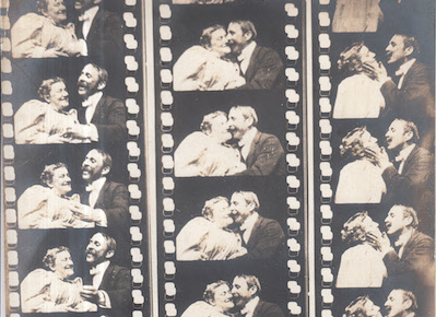 "FRAMES FROM ""THE MAY IRWIN KISS,"" COURTESY THOMAS EDISON national HISTORIC SITE"