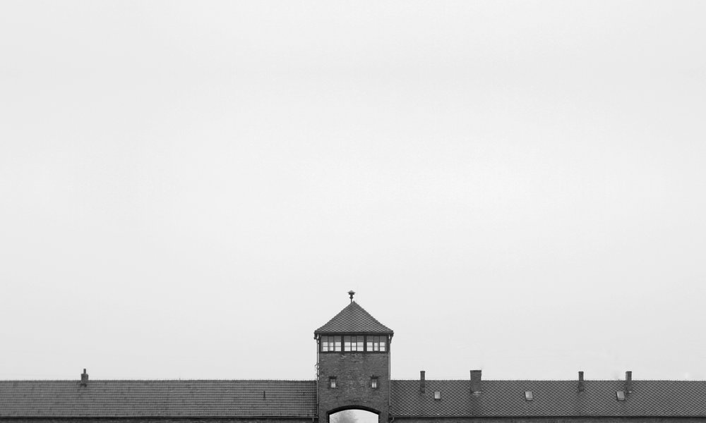 The main entrance to Auschwitz II (Birkenau) concentration camp, AKA:  The Deathgate  (photography: Dan Elborne).