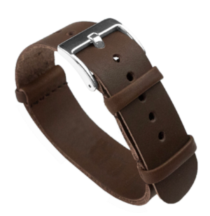 Leather Strap that will come with the Flieger which is different than the one pictured