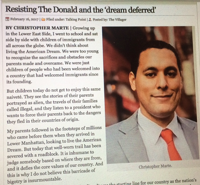 """Op-Ed: """"Resisting the Trump"""" - The Villager"""