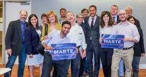 """Marte on the March! Wins D.I.D Endorsement"" - The Villager"