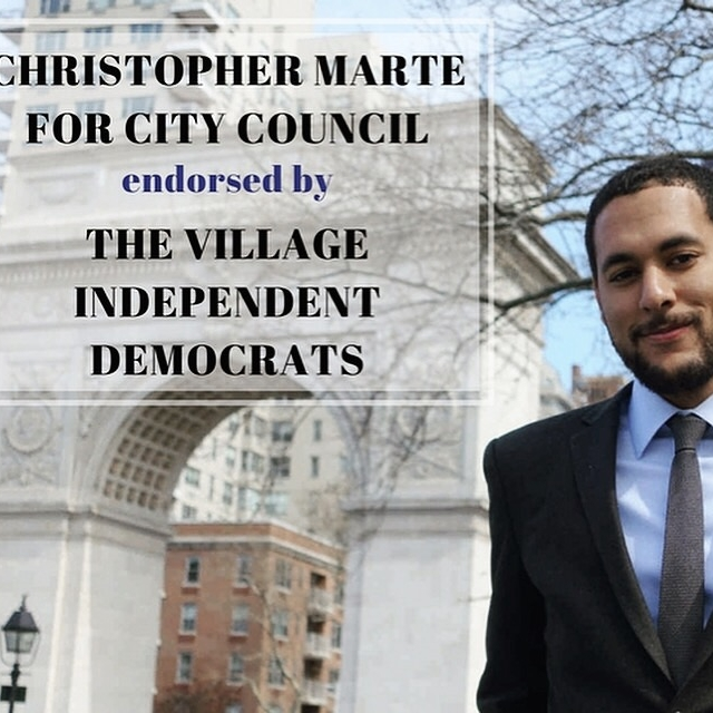 """""""V.I.D. backs Marte over Chin in primary for Council District 1"""" The Villager"""
