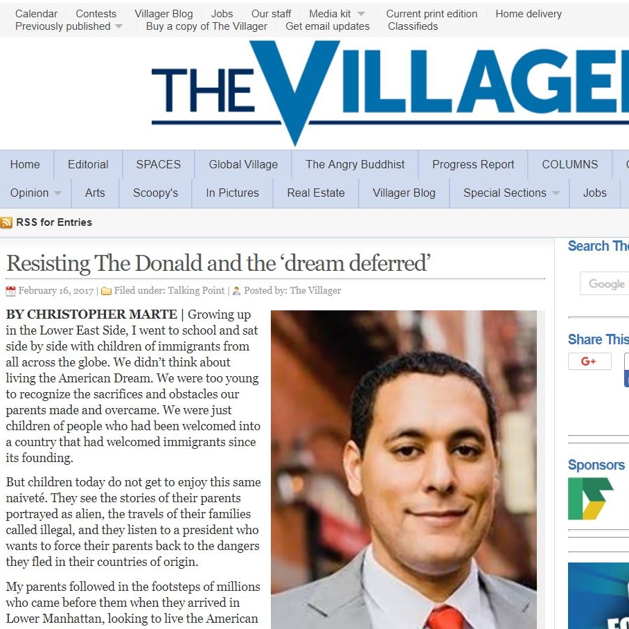 """""""Resisting The Donald and the 'Dream Deferred"""" The Villager"""