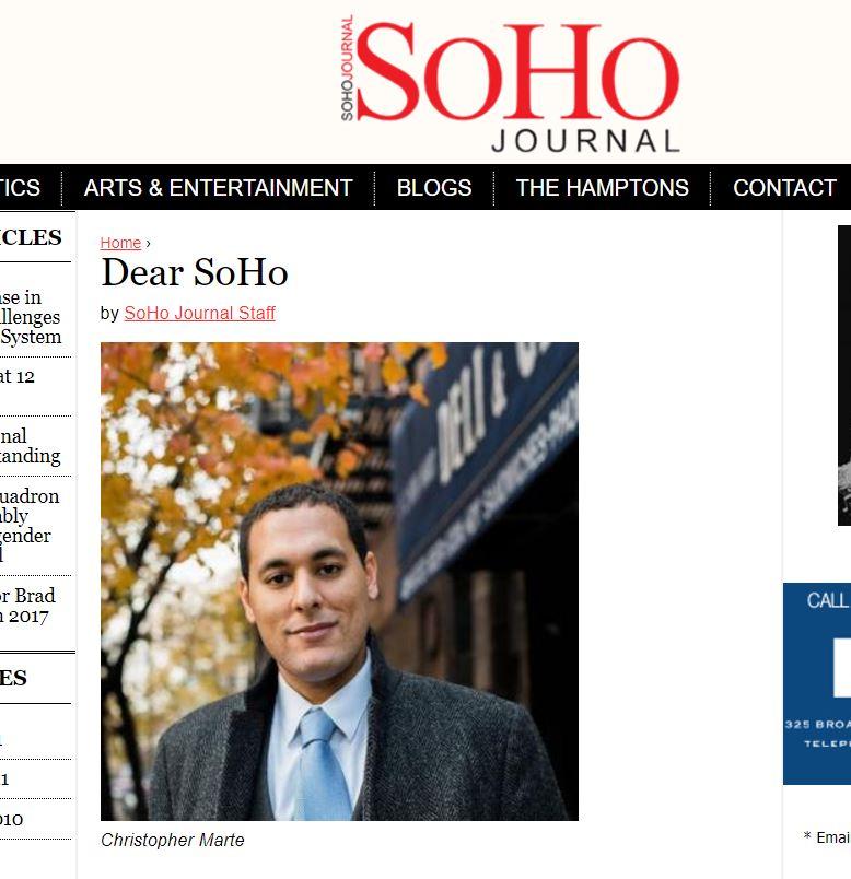 """""""Dear SoHo"""" SoHo Journal"""