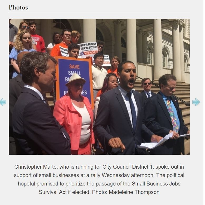 """""""Political Hopefuls Rally for Small Businesses"""" Chelsea News"""