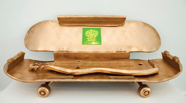"19. Peter Loose, ""World's First (only) Dulcimer Skateboard"" $575"