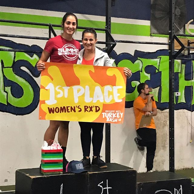 Congratulations to @brooknicole31 and @ksearleywine on their 1st place finish at the @crossfitxlt Turkey Bash! The competitiveness never goes away. We're so proud of all of your hard work!  #SummitSystems—————————————————— #SummitSystems #PunchTheClock #AlwaysForward #GetAfterIt #humanimprovement #athleticperformance #chopyourownwood #stackyourdeck #newapparel #fall #EmpowerYourPerformance #MobilityWod #crossfit #OlympicLifting #powerathlete #NikeTraining #crossfit #Nike #ReebokCrossfit