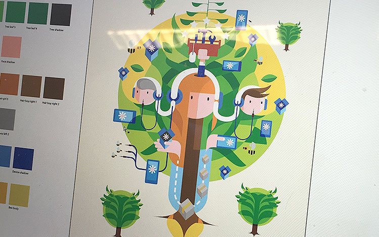 Commissioned painting for Dutch telecommunications provider KPN