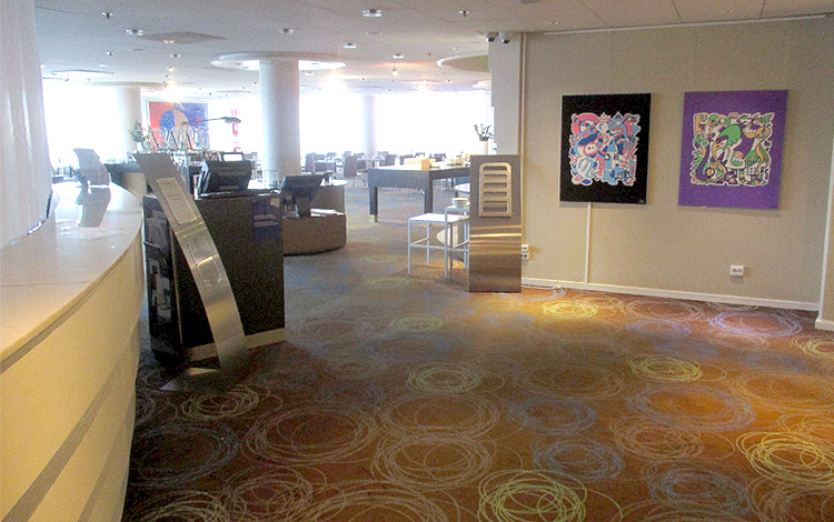 Mr. Upside Artworks Paintings hanging in the Hilton Hotel Slussen in Stockholm, Sweden 04