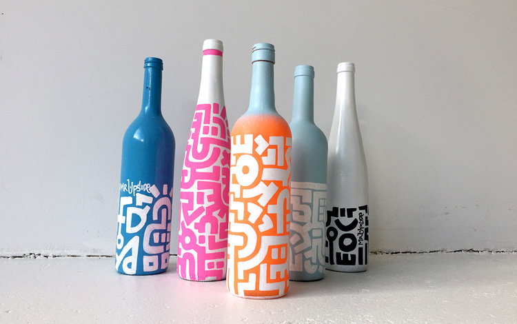 The Mr. Upside family of Art Bottles has some new members in the art webshop