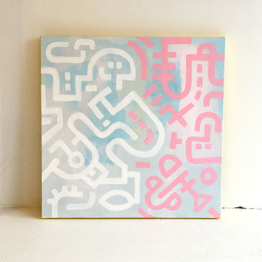 Photo 1 of artwork Opposites - a painting on canvas by Dutch contemporary urban artist Michiel Nagtegaal / Mr. Upside.