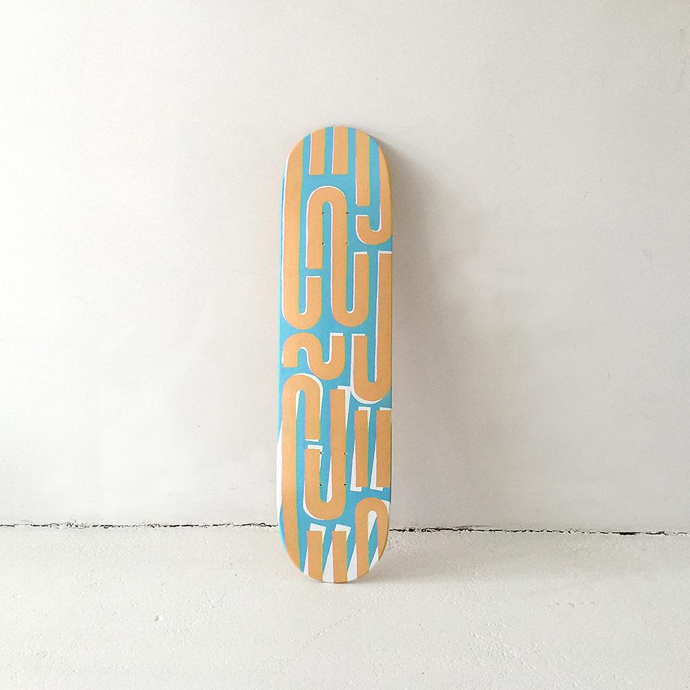 Photo 6 of Mr. Upside skateboard deck 'Tilt shift'. The art object is a custom painted skatedeck for sale by Dutch contemporary urban artist Michiel Nagtegaal / Mr. Upside.