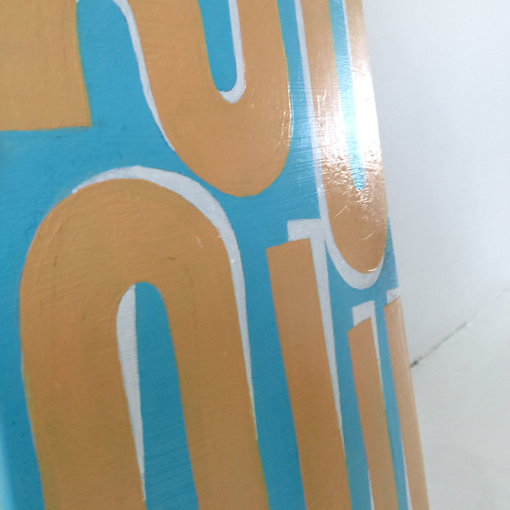 Photo 7 of Mr. Upside skateboard deck 'Tilt shift'. The art object is a custom painted skatedeck for sale by Dutch contemporary urban artist Michiel Nagtegaal / Mr. Upside.