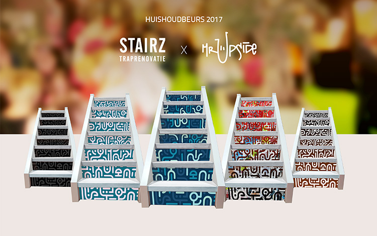 Five digital designs for the Stairz demonstration stairs which will be used on the Dutch Huishoudbeurs 2017, one of the biggest life style expo's in The Netherlands