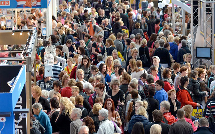 The Huishoudbeurs in the RAI in Amsterdam, The Netherlands attracts around 250.000 visitors each year.