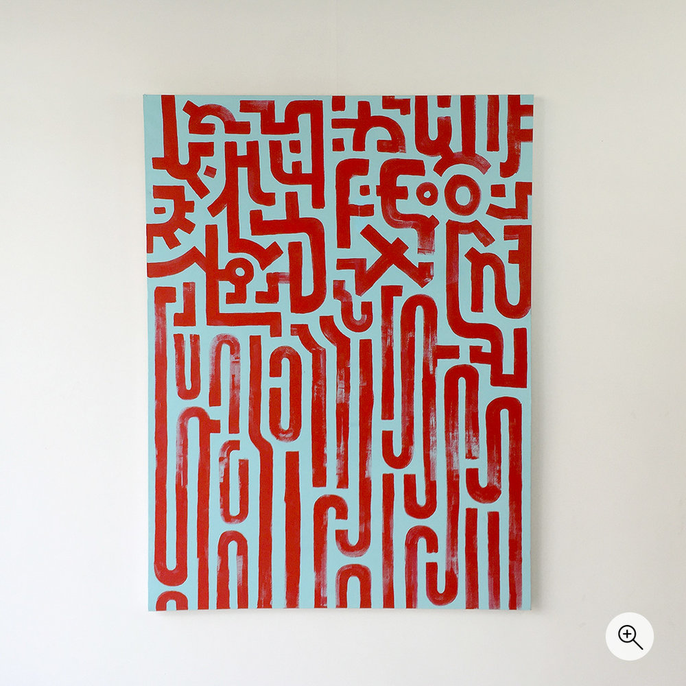 Photo 1 of artwork 'Resolving Chaos' is a painting on canvas by Dutch contemporary urban artist Michiel Nagtegaal / Mr. Upside.