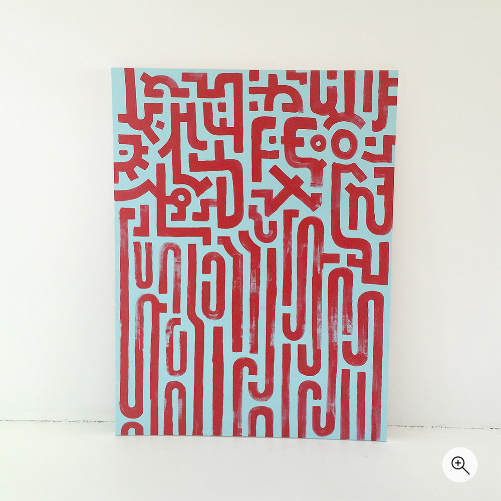 Photo 2 of artwork 'Resolving Chaos' is a painting on canvas by Dutch contemporary urban artist Michiel Nagtegaal / Mr. Upside.